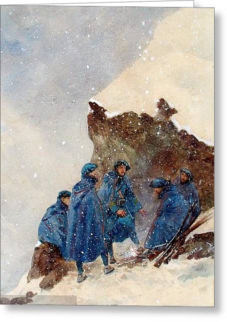 A Group Of First World War Chasseurs Greeting Card by MotionAge Designs