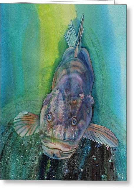 A Groupers Look Of Love Greeting Card
