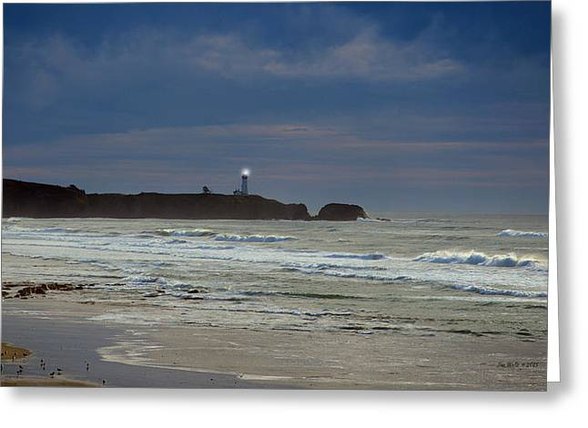 A Guiding Light Greeting Card by Jim Walls PhotoArtist