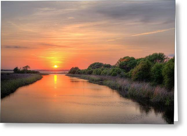 A Gulf Shores Sunset Greeting Card