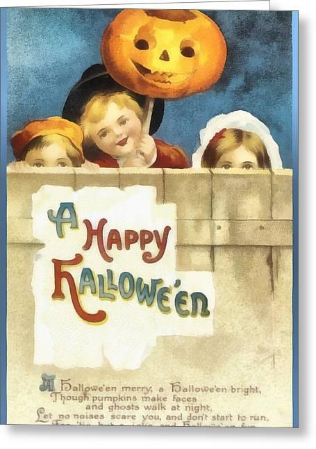 A Happy Halloween Pumpkin Greeting Card