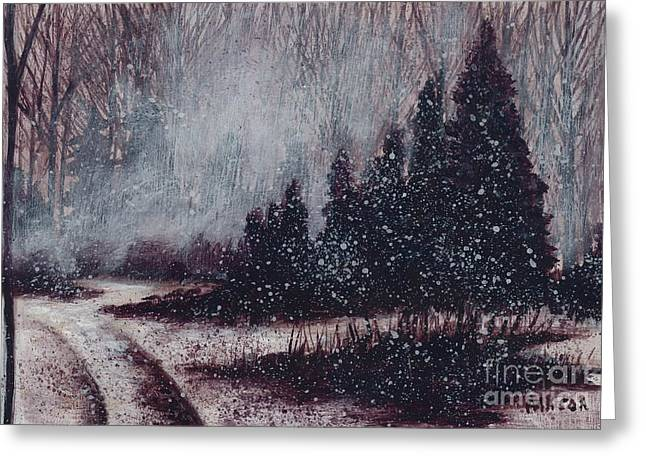 A Hazy Shade Of Winter  Greeting Card