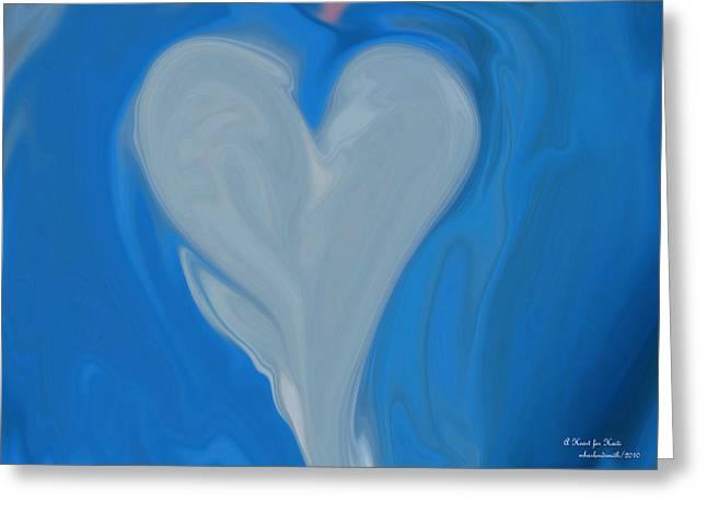 A Heart For Haiti Greeting Card by Michelle  BarlondSmith