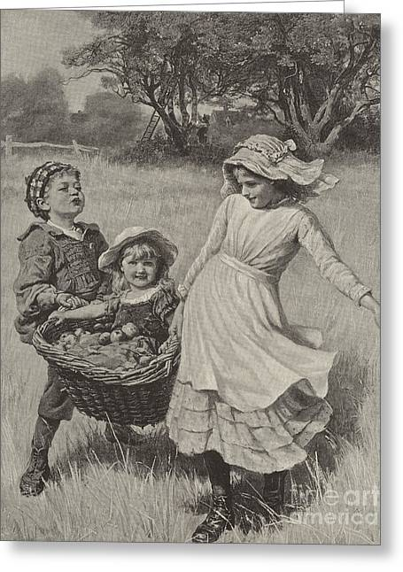 A Heavy Load Greeting Card by Frederick Morgan