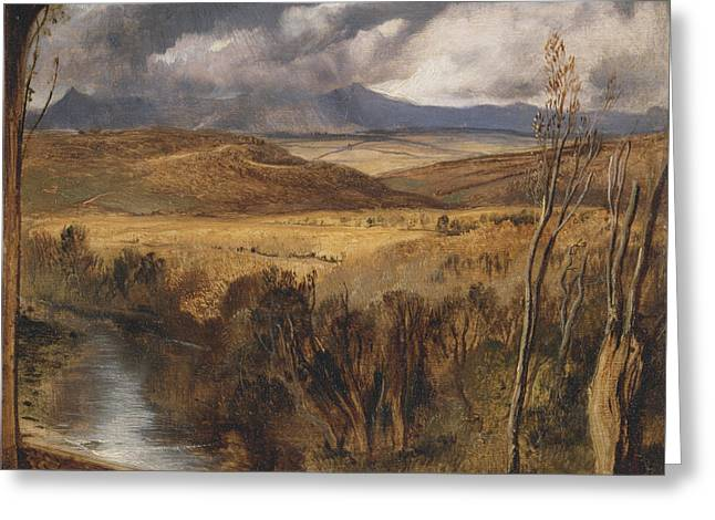 A Highland Landscape Greeting Card by Sir Edwin Henry Landseer