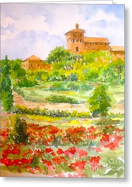 A Hillside Near San Gimignano Greeting Card