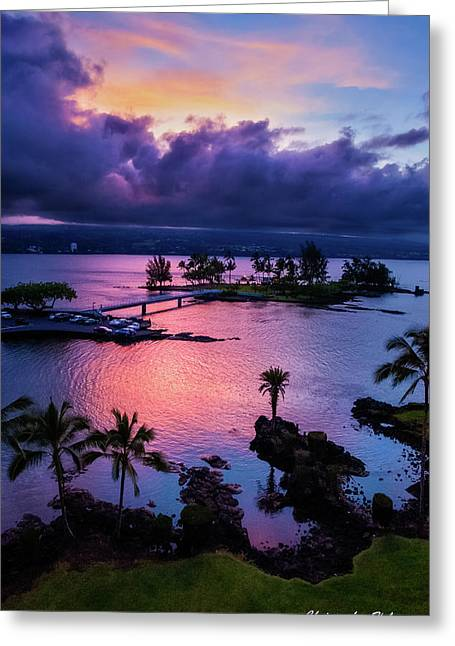 A Hilo View Greeting Card by Christopher Holmes