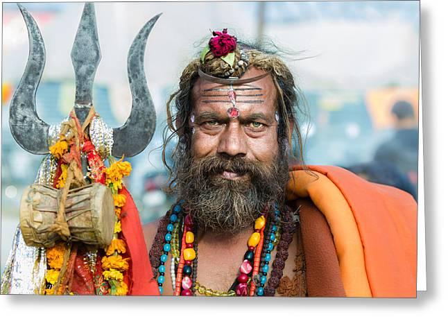 A Hindu Sadhu In North India Greeting Card