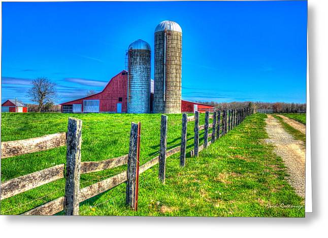 A Hole In The Fence Tennessee Farm Art Greeting Card by Reid Callaway