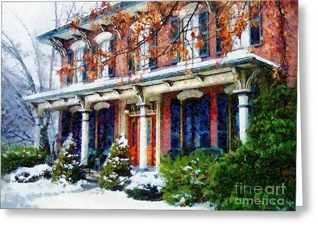 A Home For The Holidays - Honesdale Pa Greeting Card