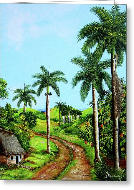 A Home In The Caribbean Greeting Card