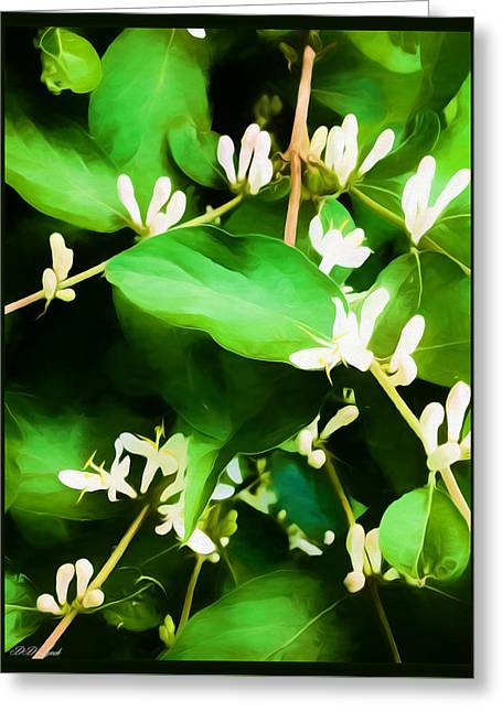 A Honeysuckle Painting Greeting Card