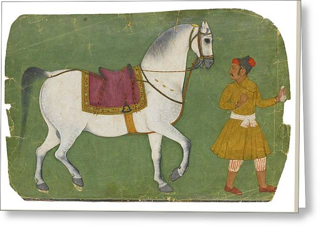 A Horse And Groom Greeting Card