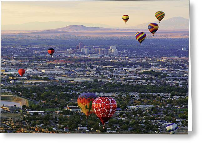 A Hot Air Ride To Albuquerque Cropped Greeting Card