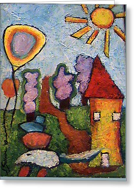 A House And A Mouse Greeting Card by Ioulia Sotiriou