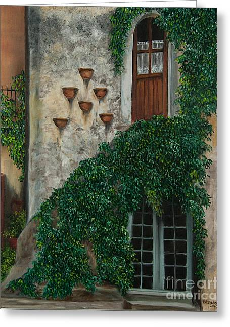 A House Of Vines Greeting Card by Charlotte Blanchard