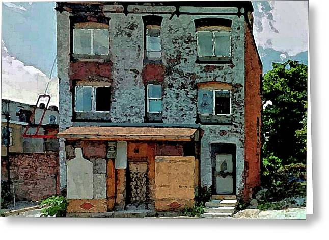 A House On Bloom Street Greeting Card