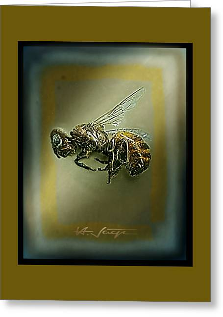 A Humble Bee Remembered Greeting Card