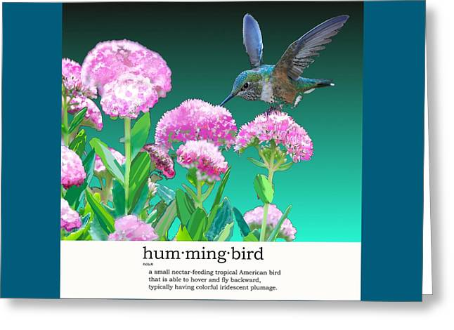 A Hummingbird Visits Greeting Card