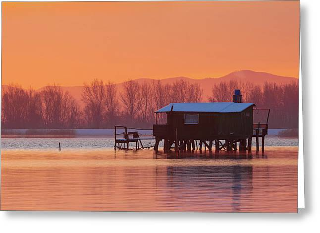 A Hut On The Water Greeting Card