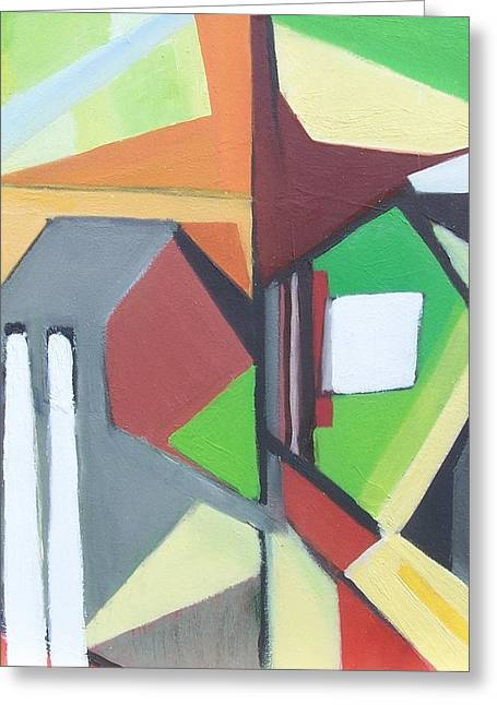 A Jersey Abstraction Greeting Card by Ron Erickson