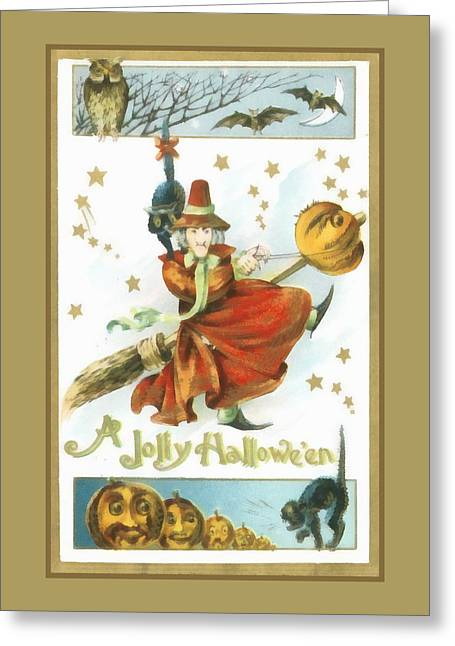 A Jolly Halloween Greeting Card by Unknown