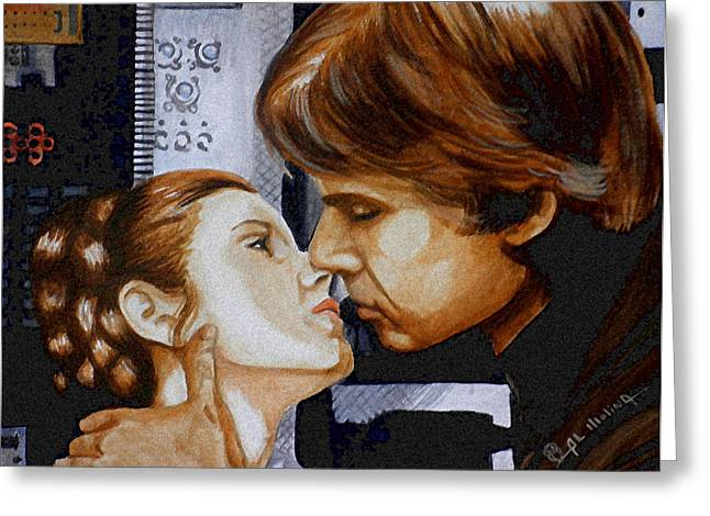 A Kiss From A Scoundrel Greeting Card by Al  Molina
