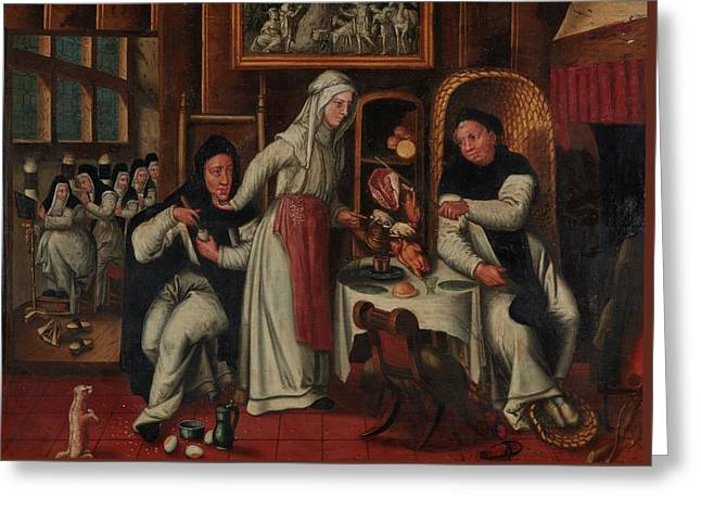 A Kitchen In A Convent Greeting Card