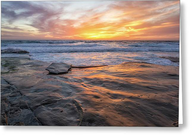 A La Jolla Sunset #2 Greeting Card