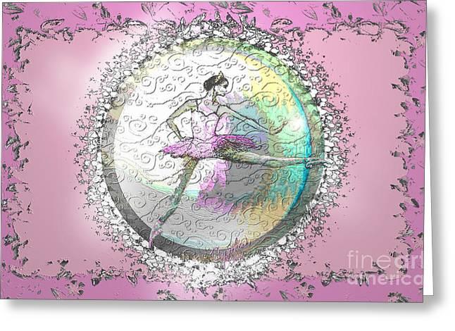 A La Second Pink Variation Greeting Card by Cynthia Sorensen