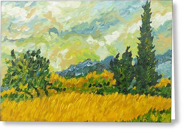 A La Van Gogh Greeting Card by Diane Arlitt