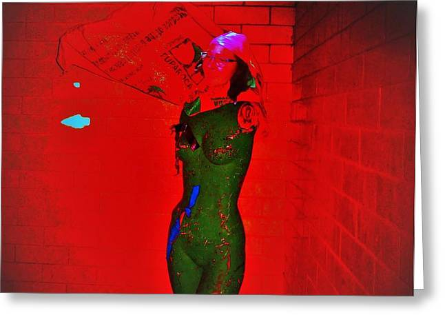 A Lady In Red Room Greeting Card by Jose Galindo