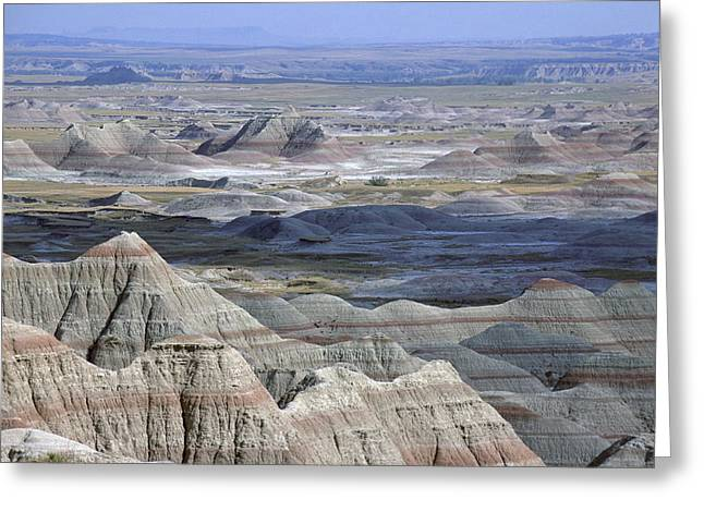 A Landscape Of The Badlands In South Greeting Card by Joel Sartore
