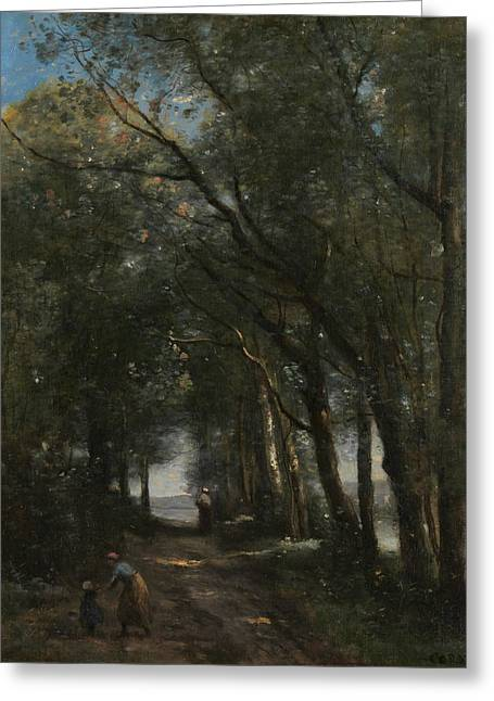 A Lane Through The Trees Greeting Card