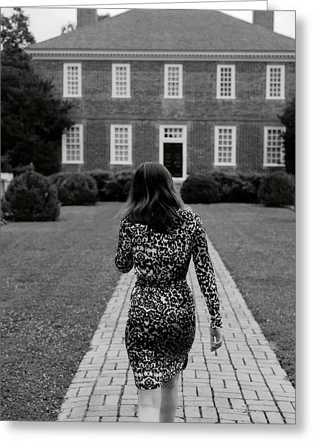 A Leopard Dress Greeting Card