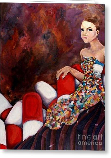 A Life Of Seduction Greeting Card by Victoria Dietz