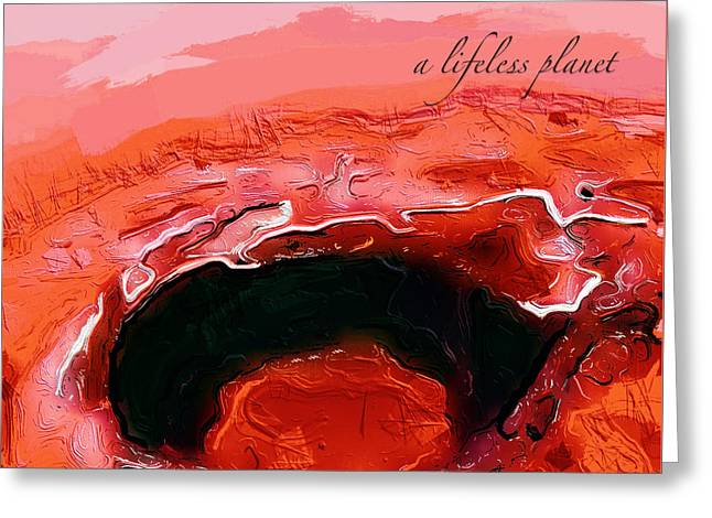 A Lifeless Planet Red Greeting Card