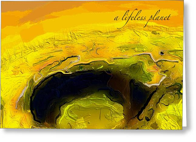 A Lifeless Planet Yellow Greeting Card