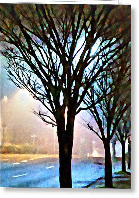 A Light Dusting Of Solitude Greeting Card