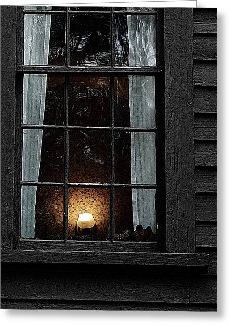 A Light In The Window  Greeting Card by Jeff Heimlich