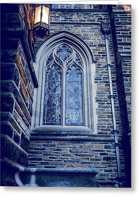 A Light Of The Duke Chapel  Greeting Card by Anthony Doudt