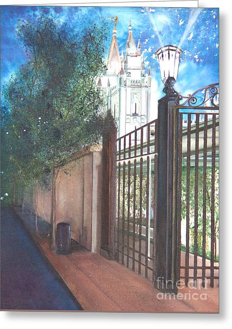 A Light Unto The World Greeting Card by Jane Autry