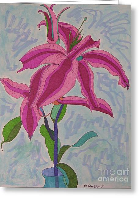 A Lily Greeting Card by James SheppardIII