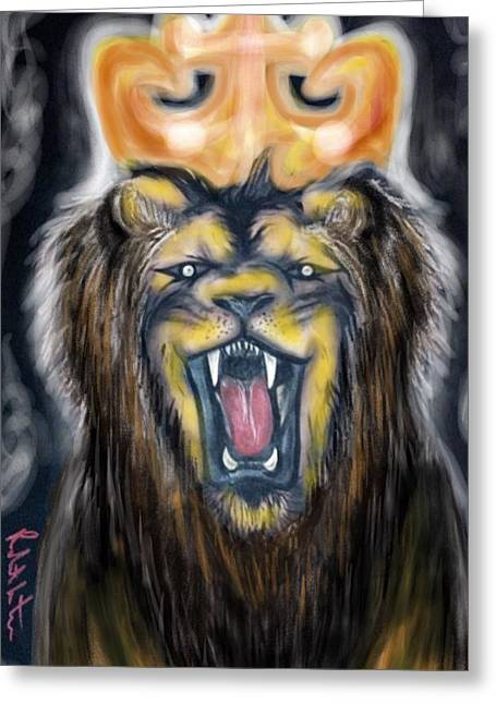A Lion's Royalty Greeting Card