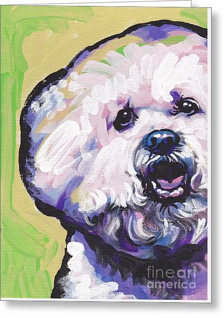 A Little Bichon Greeting Card by Lea S