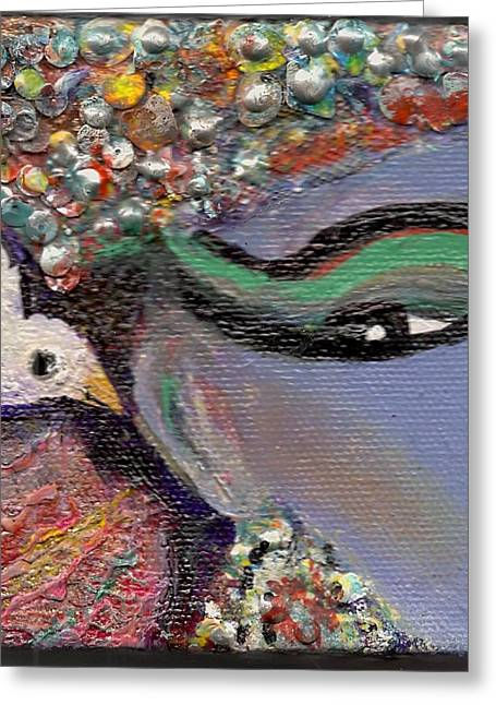 A Little Bird Told Me Greeting Card by Anne-Elizabeth Whiteway