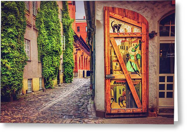 A Little Corner Of Riga  Greeting Card