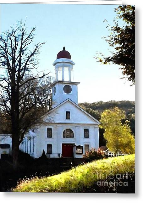 A Little Country Church In Unionville Ny - A New Day Dawns Greeting Card