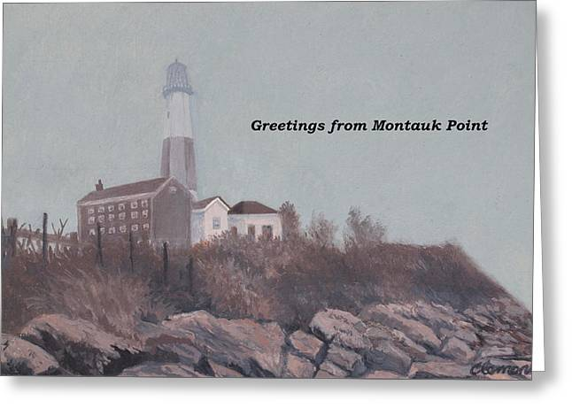 A Little Fog On Montauk Point Lighthouse Greeting Card
