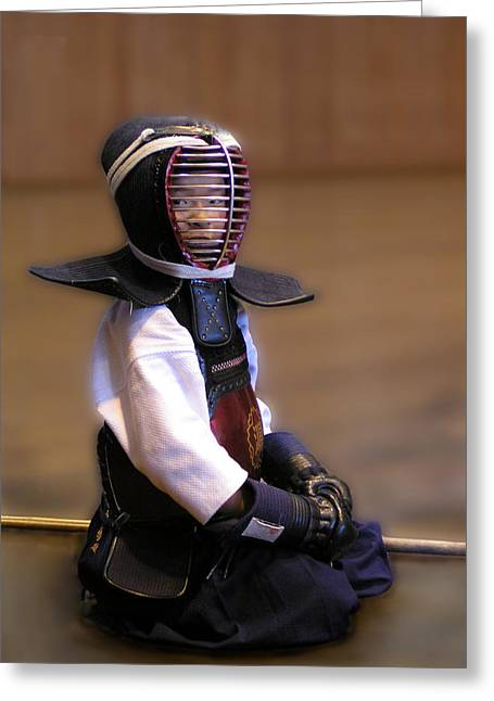 A Little Kendo Warrior Greeting Card